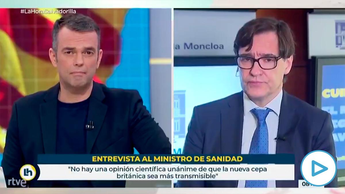 Salvador Illa hace 24 horas: «El candidato va a ser Miquel Iceta».
