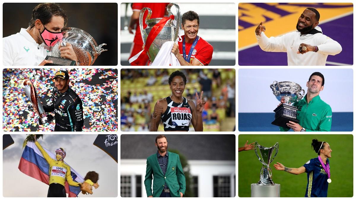 Los reyes del deporte en 2020. (Getty)