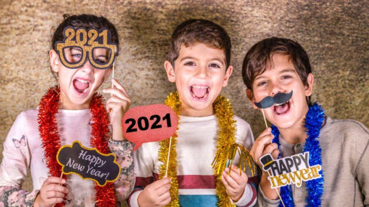 Cómo podemos celebrar la Nochevieja 2021 si la pasamos solo con los niños