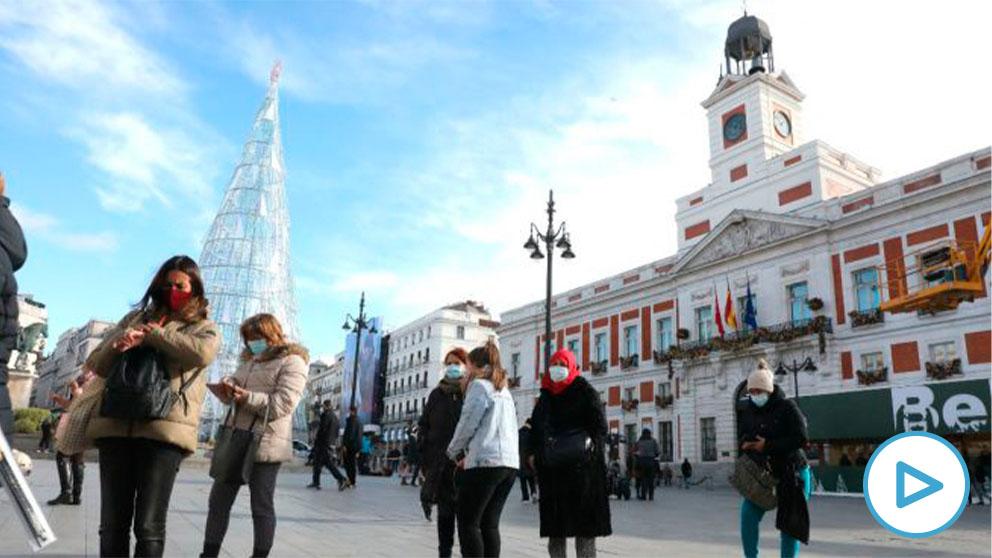 Imagen reciente de la Puerta del Sol de Madrid. (Foto: Europa Press)