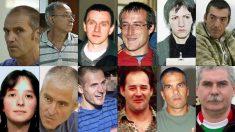 Algunos de los etarras con delitos de sangre acercados y puestos en libertad este año, entre ellos varios jefes de ETA.