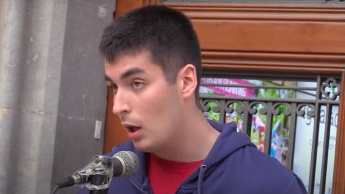 El candidato y dirigente de las juventudes de ERC Joan Mangues.