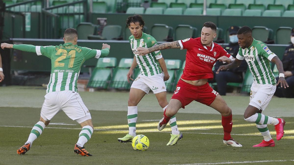 Liga Santander 2020-2021 | Sevilla – Betis, en directo. (EFE)