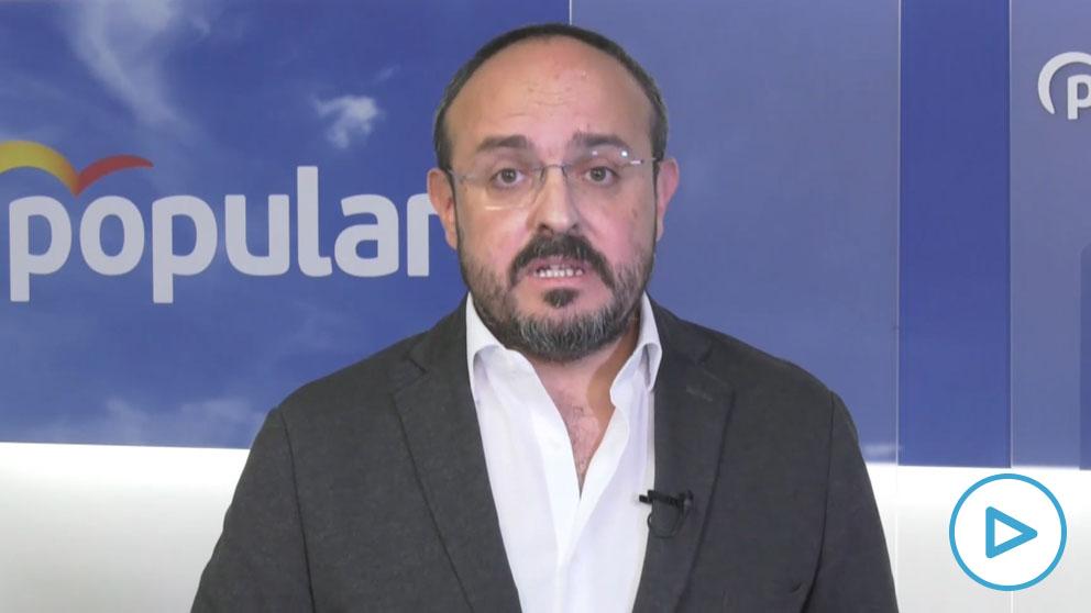 El líder del PP catalán, Alejandro Fernández.