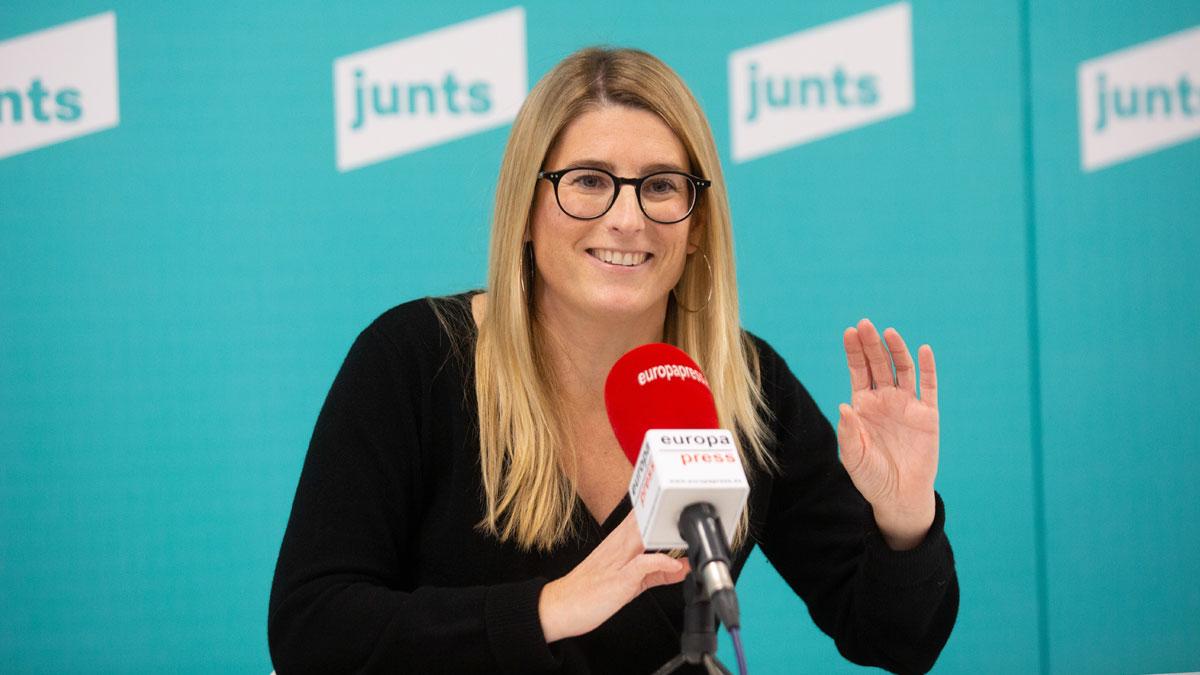 La vicepresidenta de JxCat y portavoz municipal del partido en Barcelona, Elsa Artadi. Foto: EP