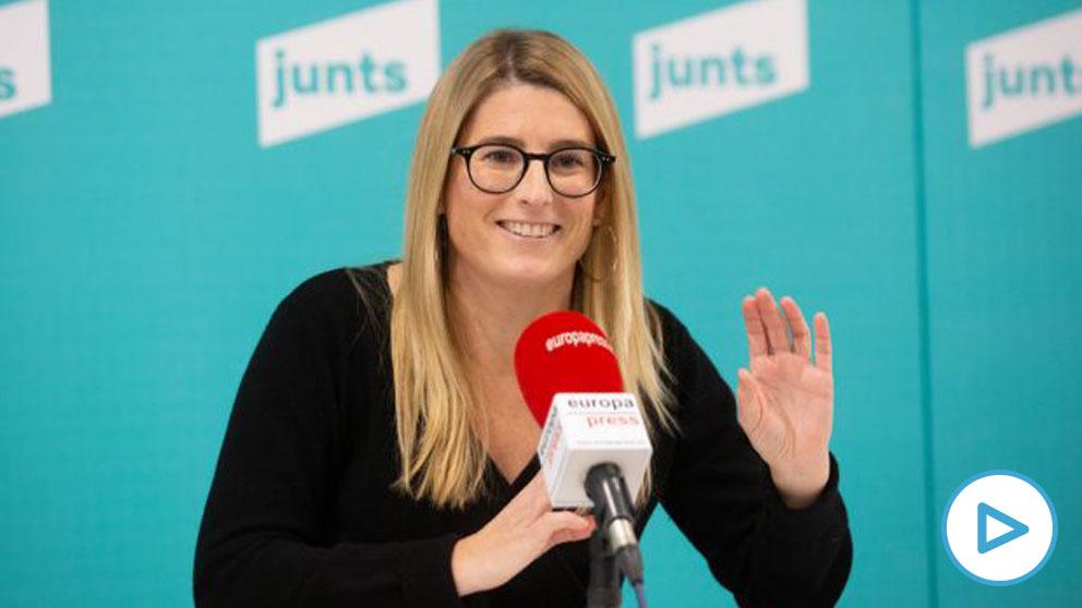 La vicepresidenta de JxCat y portavoz municipal del partido en Barcelona, Elsa Artadi. Foto- EP