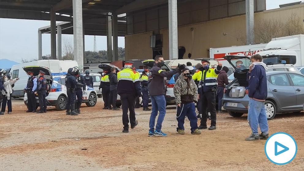 rave ilegal barcelona mossos
