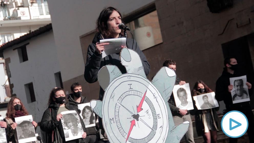 Acto de culto de las juventudes de Sortu a los presos de ETA.