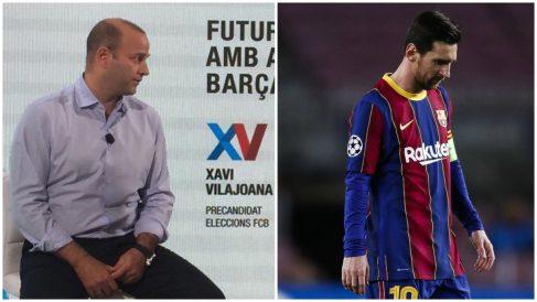 Xavi Vilajoana ofrecerá a Messi la posibilidad de ir a la MLS con una franquicia del Barça.