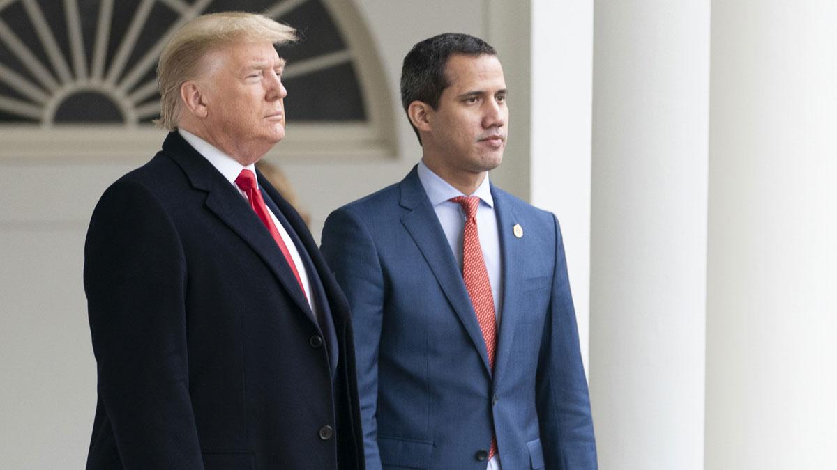 Donald Trump y Juan Guaidó. Foto: EP