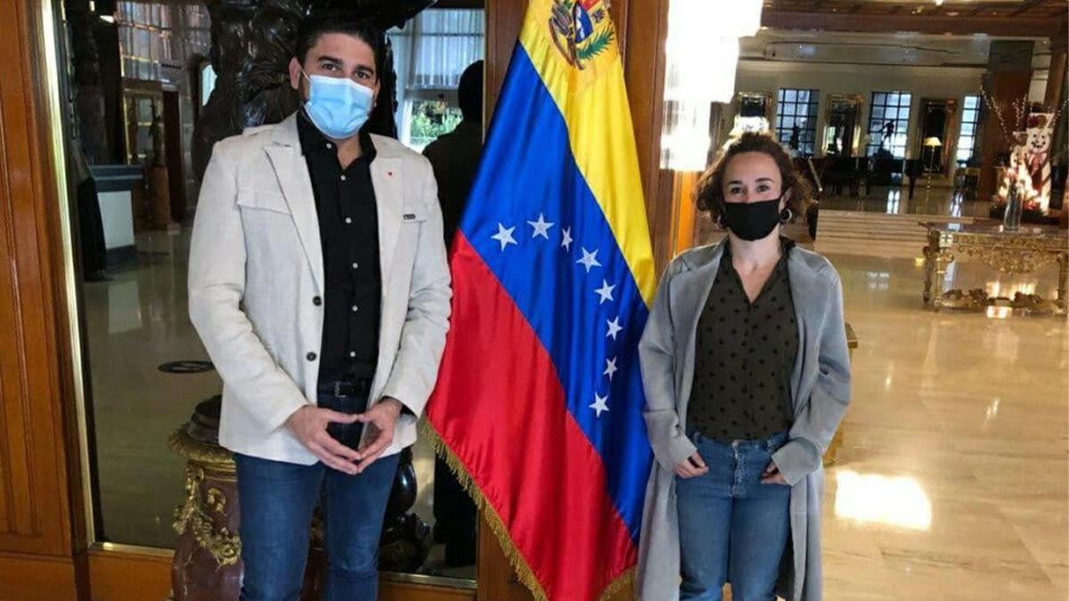 Ismael Sánchez y Ana Naranjo, diputados de Adelante Andalucía en el Parlamento Andaluz por IU.