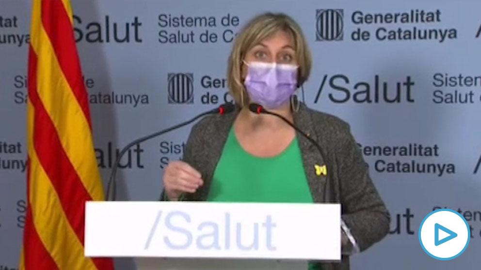 La consejera de Salud de la Generalitat de Cataluña, Alba Vergés.