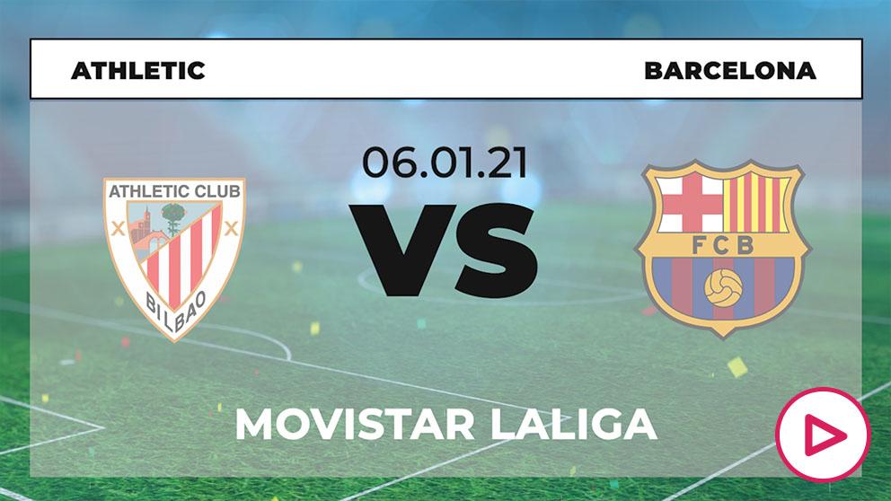 Liga Santander 2020-2021: Athletic Club – Barcelona   Horario del partido de fútbol de la Liga Santander.