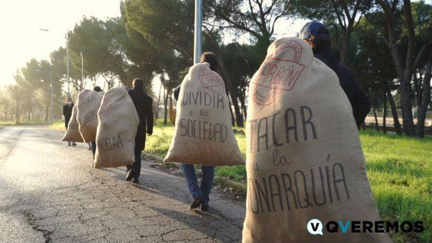 Los Reyes Magos llevan a Pedro Sánchez una tonelada de carbón por engañar y dividir a los españoles