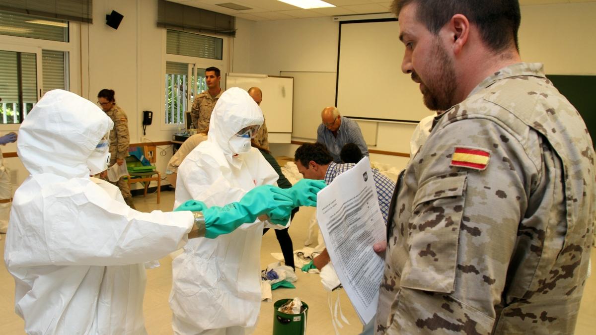 Militares de la Brigada de Sanidad del Ejército de Tierra.