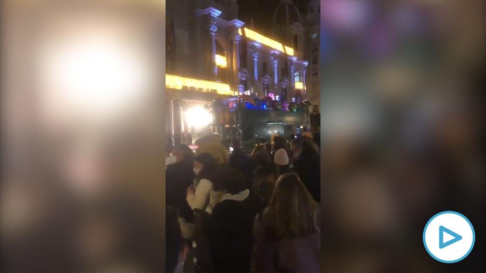 Cabalgata de Reyes en Valencia.
