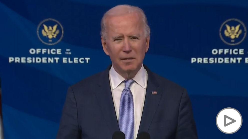 Biden pide a Trump que se dirija a la nación para «pedir el fin del asedio» y «defender la Constitución».