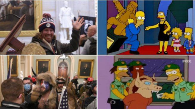 El asalto al Capitolio de EEUU hace TT a Los Simpson