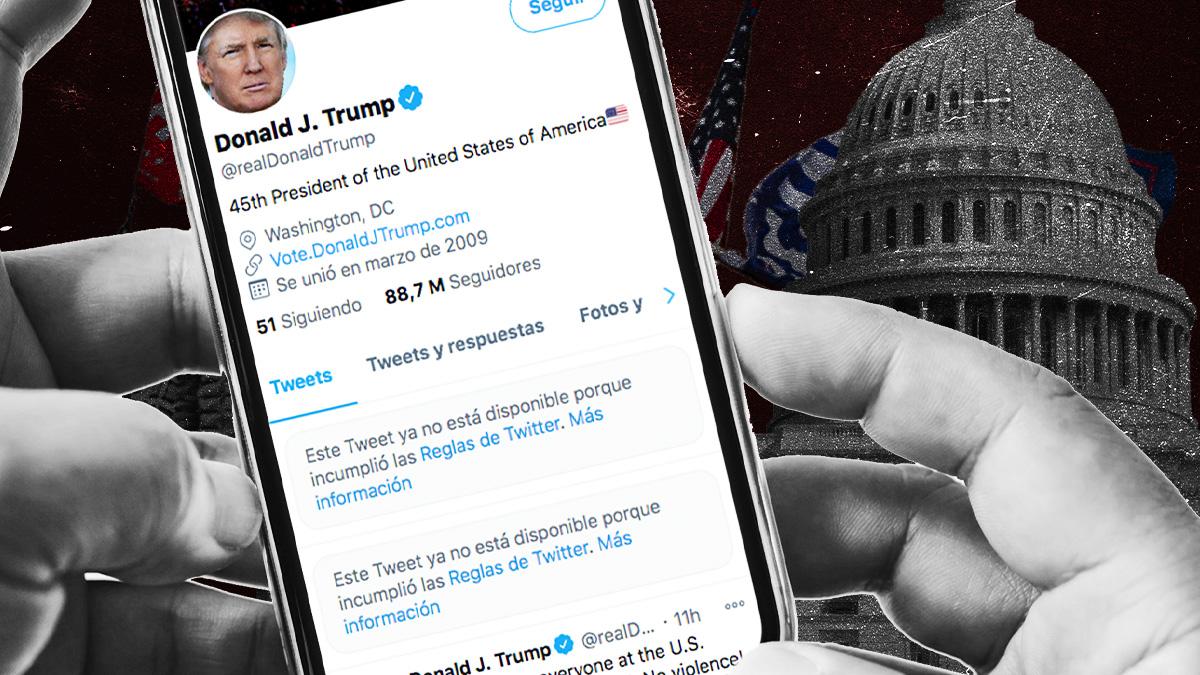Twitter y Facebook suspenden temporalmente la cuenta de Trump tras los disturbios en el Capitolio
