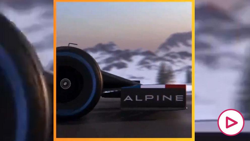 Se filtran más imágenes del nuevo coche de Fernando Alonso en su regreso en la Fórmula 1.