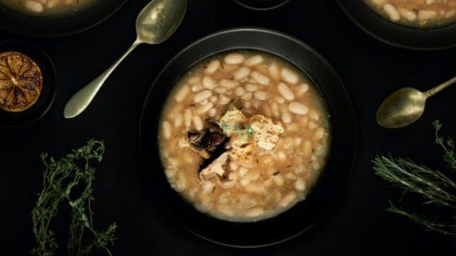 Receta de alubias con champiñones fáciles de preparar