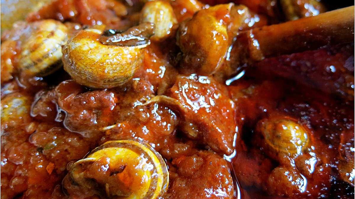 Receta de caracoles en salsa, paso a paso
