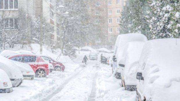 nieve coche