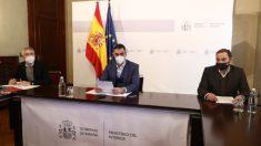 El presidente del Gobierno, Pedro Sánchez, presidiendo la reunión de emergencia por Filomena 48 horas después del temporal.