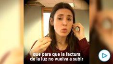 Irene Montero prometía en 2019 que con Podemos en el Gobierno las subidas de la luz serían diferentes a con Sánchez.