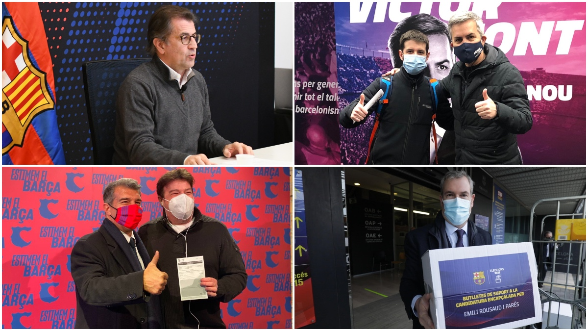 Joan Laporta, Víctor Font, Toni Freixa y Emili Rousaud son los cuatro candidatos a la presidencia del Fútbol Club Barcelona.