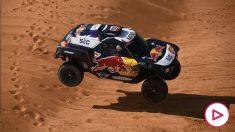 Carlos Sainz, en el Rally Dakar. (AFP)
