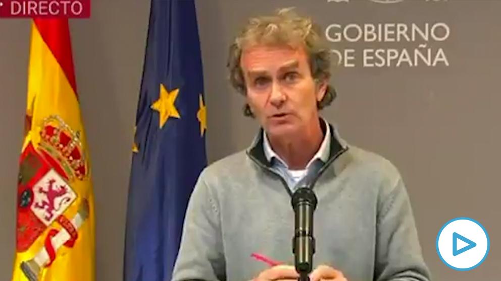 Fernando Simón, en la rueda de prensa de este lunes.