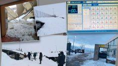 Instalaciones de la Guardia Civil afectadas por el temporal 'Filomena'.