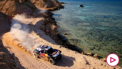 Carlos Sainz en el Dakar.