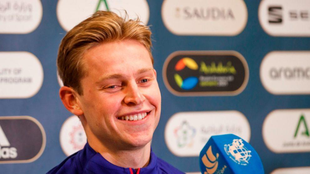 De Jong, en rueda de prensa. (EFE)