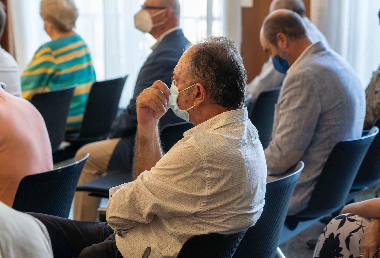 El exdirector generales de Trabajo, Alberto Rivera, en la primera sesión de la vista oral.