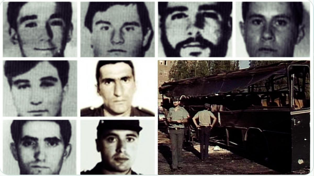 Algunos de los guardias civiles asesinados por Troitiño..