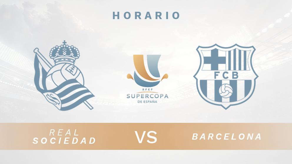 Supercopa de España 2021: Real Sociedad – Barcelona | Horario del partido de fútbol de la Supercopa de España.
