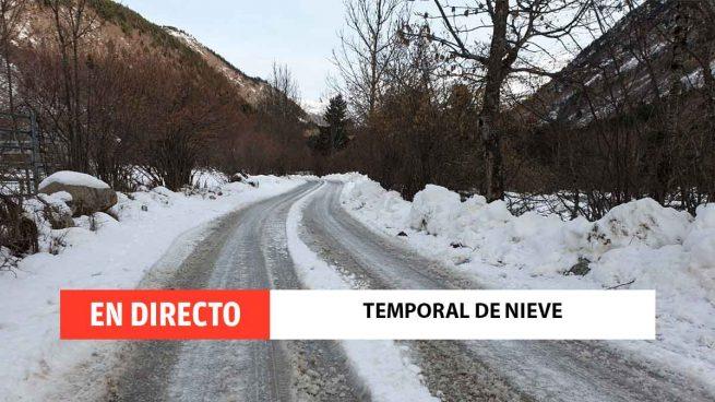Temporal de nieve, ola de frío y borrasca Filomena, en directo: estado de las carreteras y últimas noticias