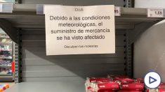 Supermercados desabastecidos.