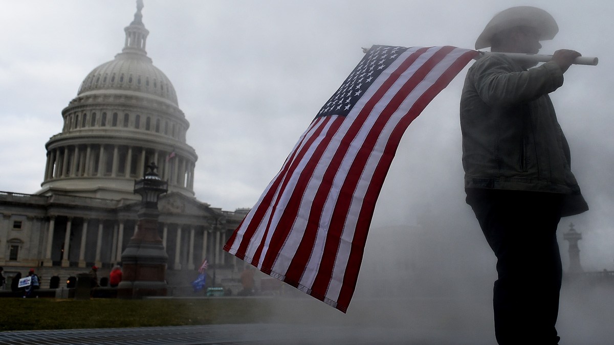 Manifestaciones a favor de Trump en el Capitolio (Foto: AFP)