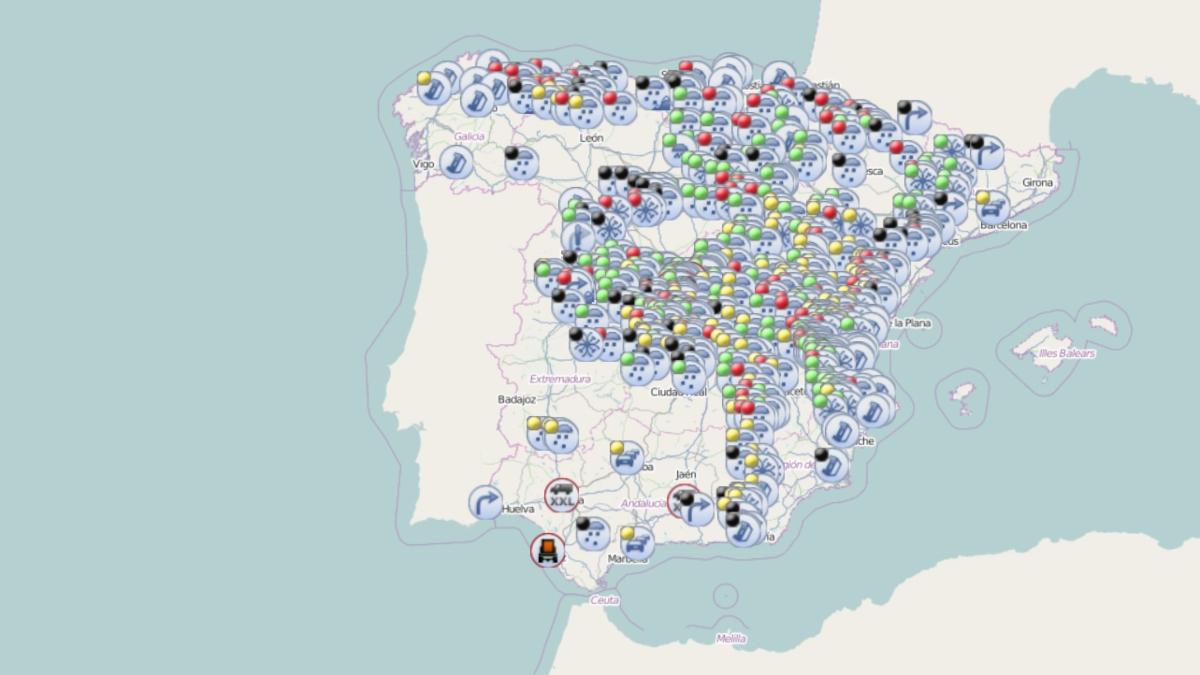 ¿Qué carreteras siguen afectadas por el temporal Filomena?