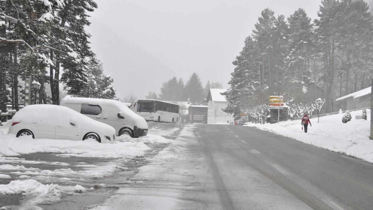 Incidencia Filomena en carreteras de Aragón. Fuente: Europa Press