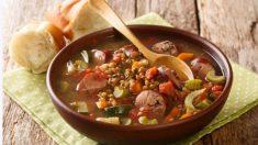 Lentejas con verduras al microondas