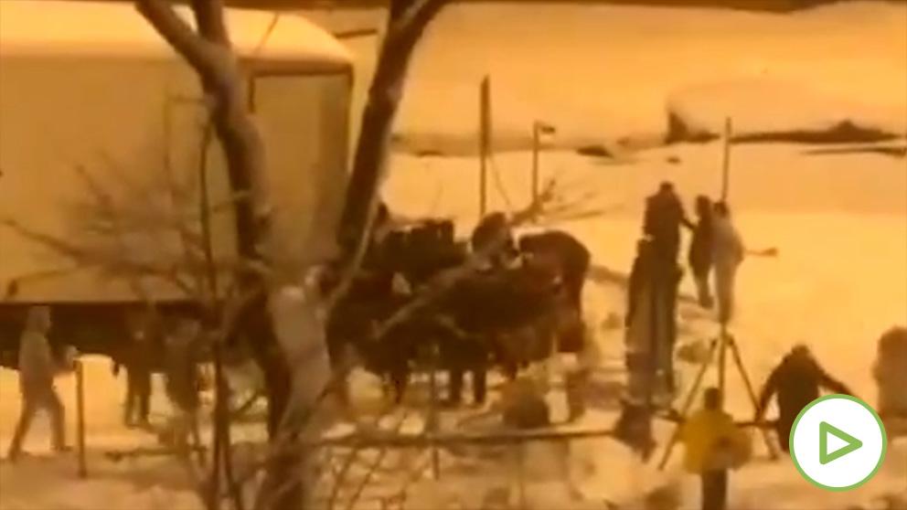 Robo y pillaje en la m30 durante la nevada