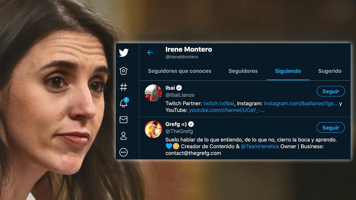 Irene Montero se apunta a la moda de los youtubers: empieza a seguir a Ibai y a TheGrefg