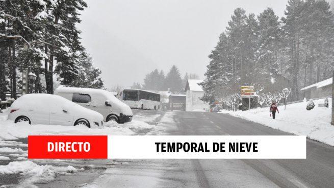 Ola de frío, nieve y temporal Filomena hoy, en directo | Carreteras cortadas, vuelta a las clases en Madrid y últimas noticias