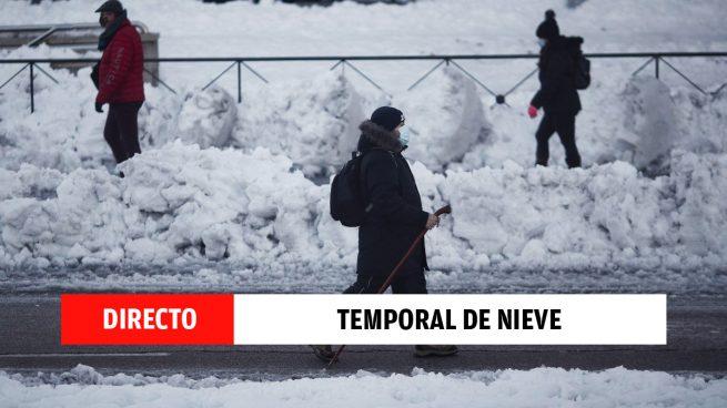 Ola de frío y temporal Filomena: última hora de la evolución de la limpieza de la nieve en Madrid, en directo
