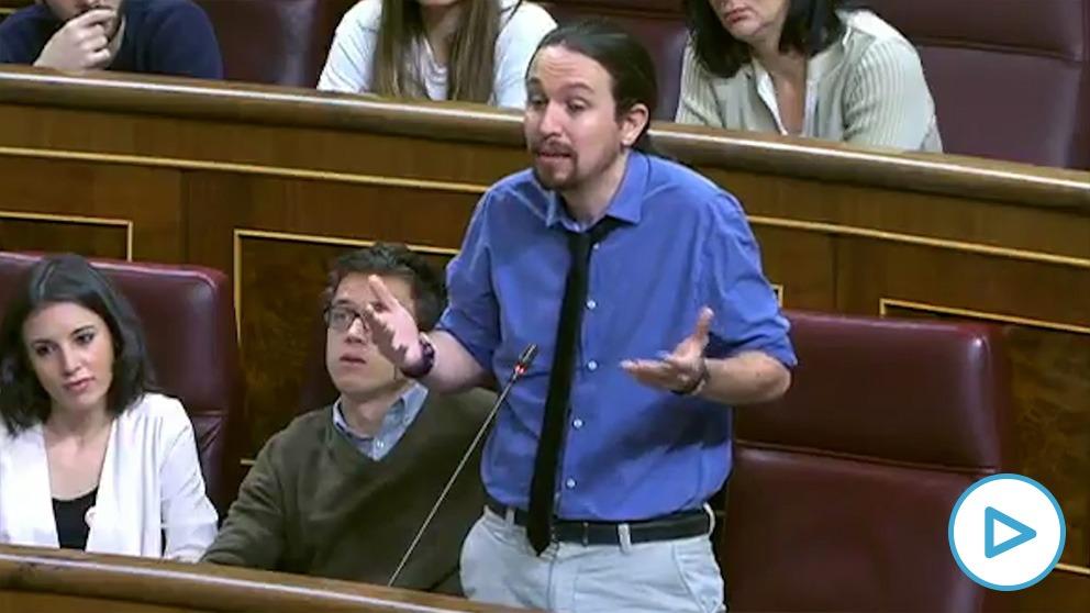 Pablo Iglesias pidiendo a Rajoy en 2017 que bajara el IVA de la luz al 4%.