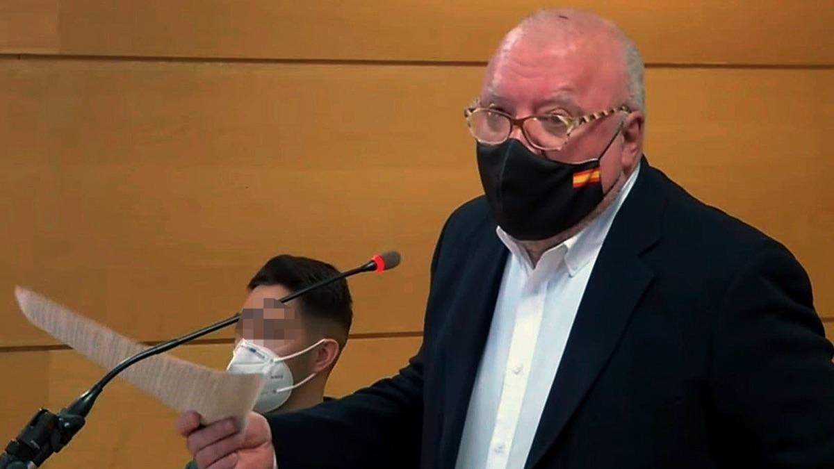 El excomisario José Villarejo presta declaración. (Foto: TSJM)